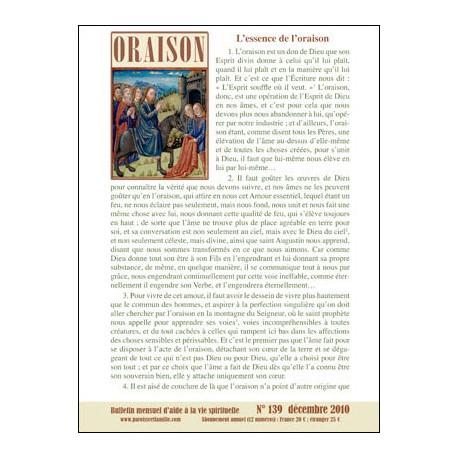 Bulletins oraison 2011 (Fichiers Zip &  Pdf)